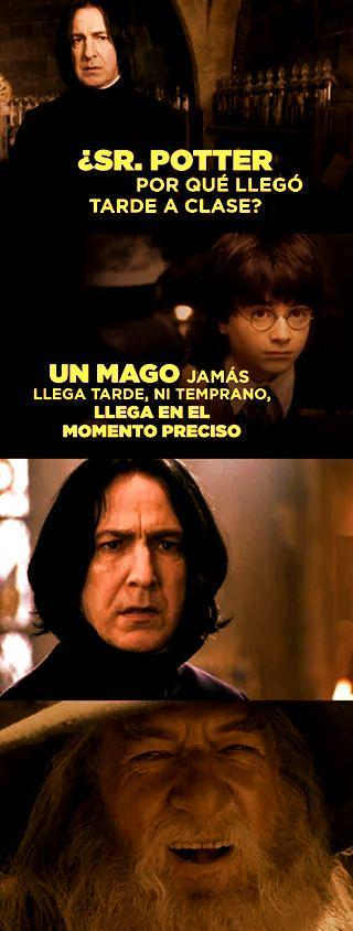Gandalf 1 - Snape 0 - meme