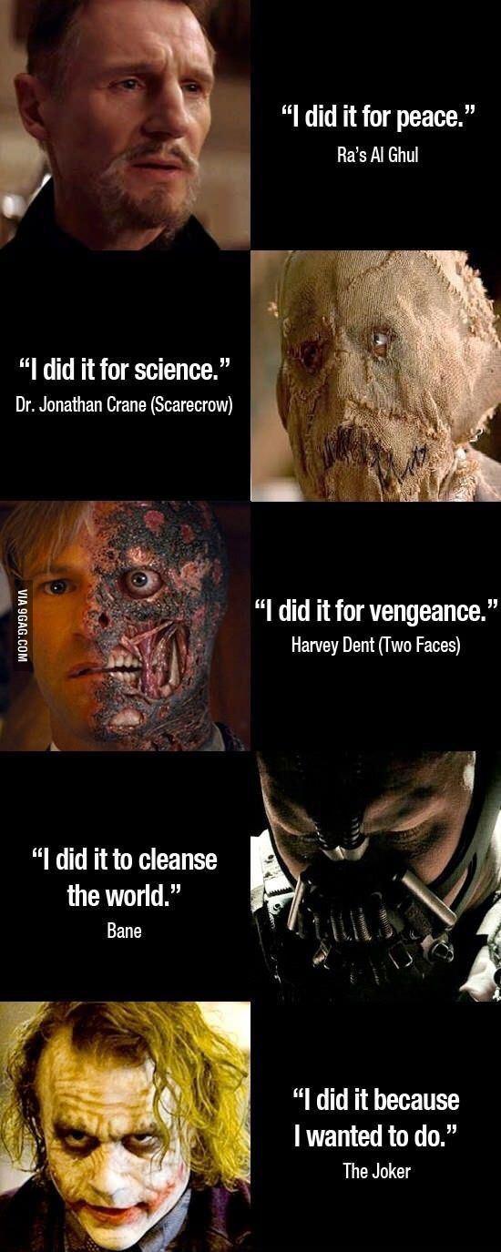 La vengeance des méchants - meme