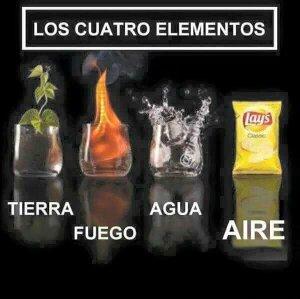 Los tres elementos - meme