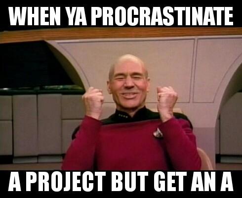 Procrastination at its finest - meme