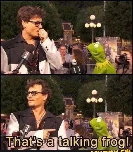 Johnny that's Kermit - meme