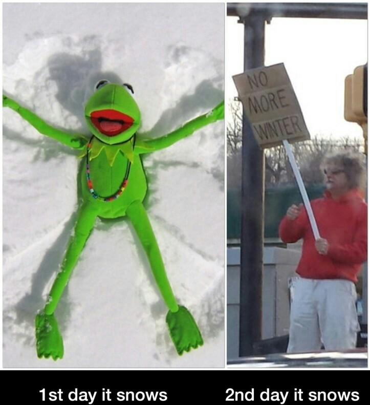 Piss off snow - meme
