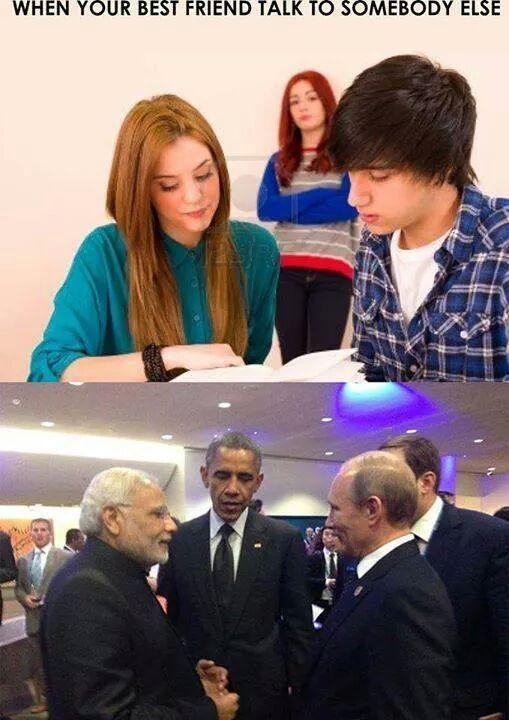 In Soviet Russia your enemy is my frriend - meme