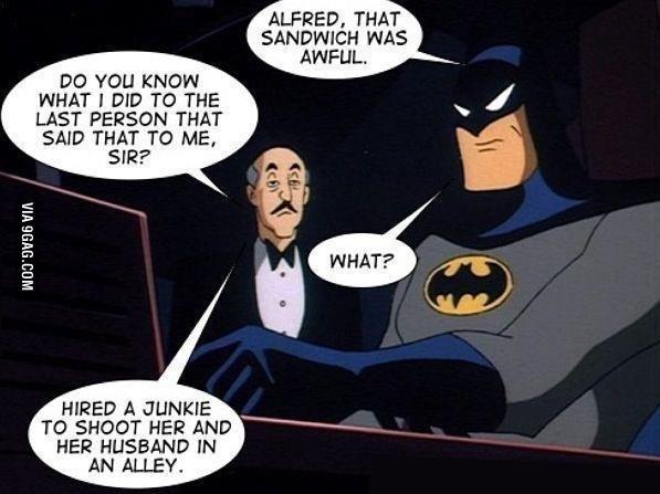Gfdi Alfred too far - meme