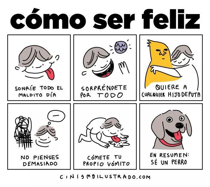 como ser feliz c: - meme