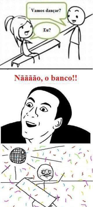 Quer dançar? - meme