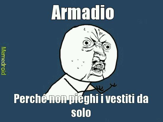 Armadio ribelle - meme