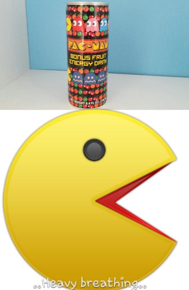 Pacman energy drink.. - meme