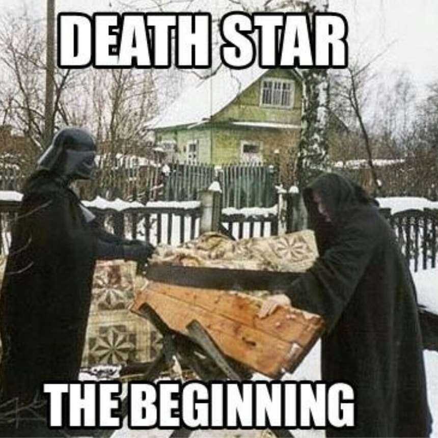 The new Death Star is on its way - meme