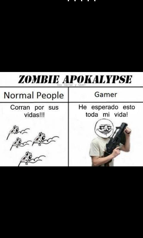 La realidad gamer - meme