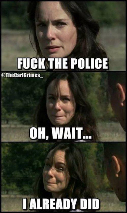 Fuck the police! - meme