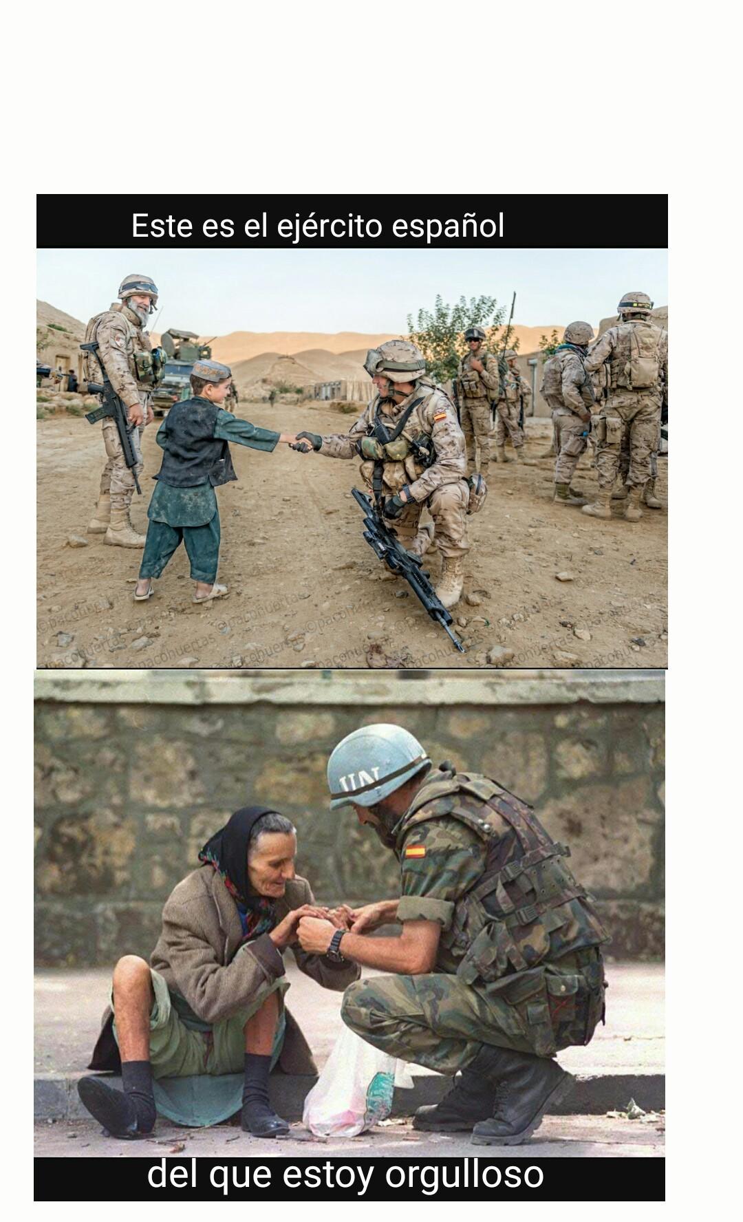 Éste es el ejército español - meme