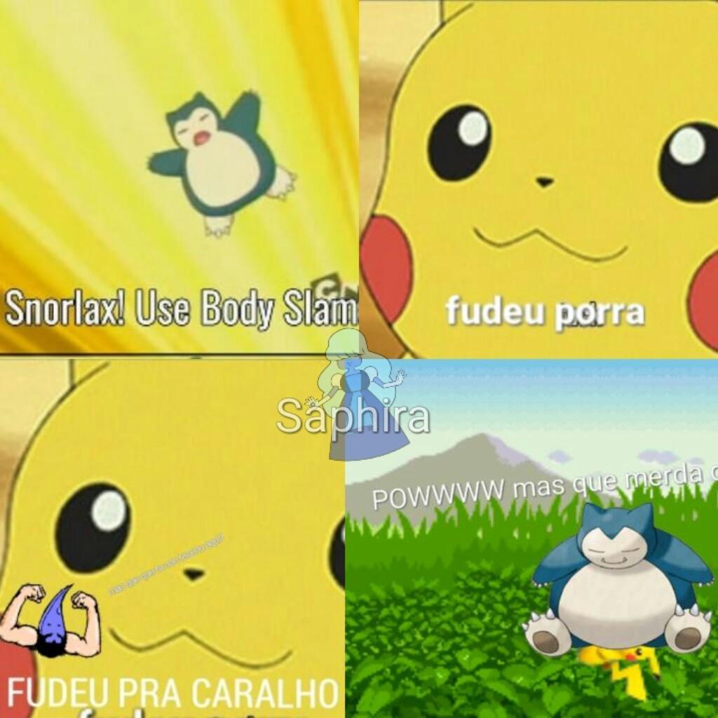 Pikachu se fudeu ;-; (deu trabalho pra poha) - meme