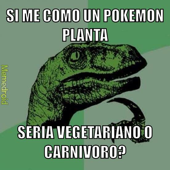 Vegetariano o carnívoro? - meme