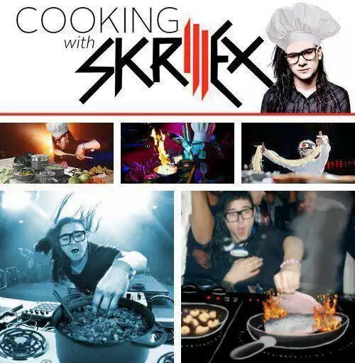 El titulo esta comiendo la comida de skrillex - meme
