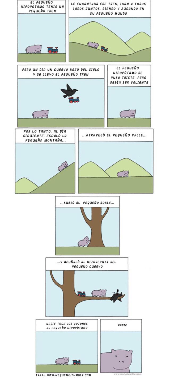 La historia del pequeño hipopótamo - meme
