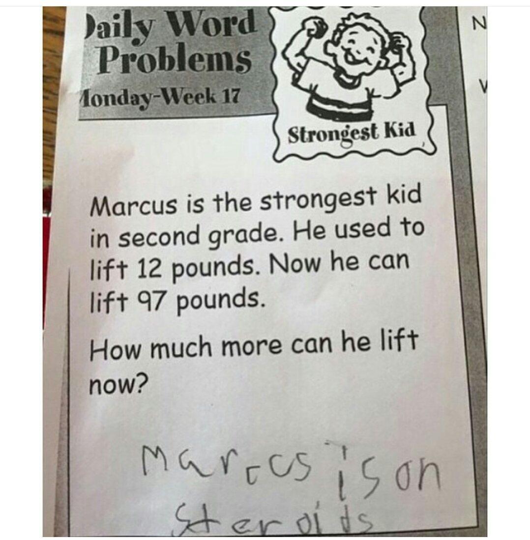 Marcus on steroids. - meme
