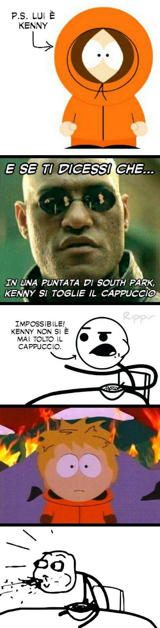 Kenny senza cappuccio?! Che figata! - meme
