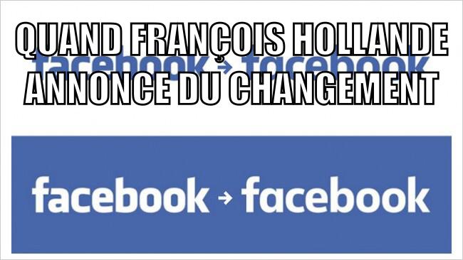 Qui prefere le nouveau logo facebook - meme