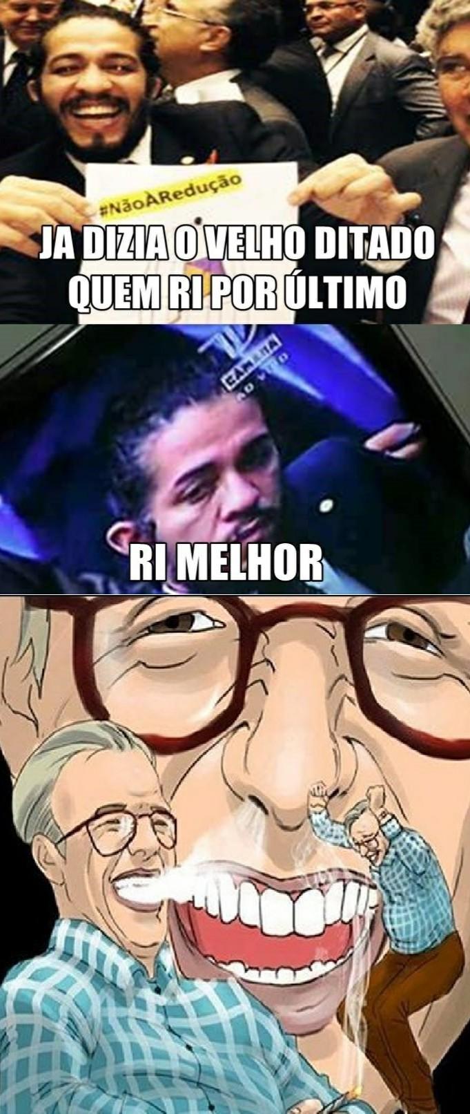 Olavo curtiu - meme