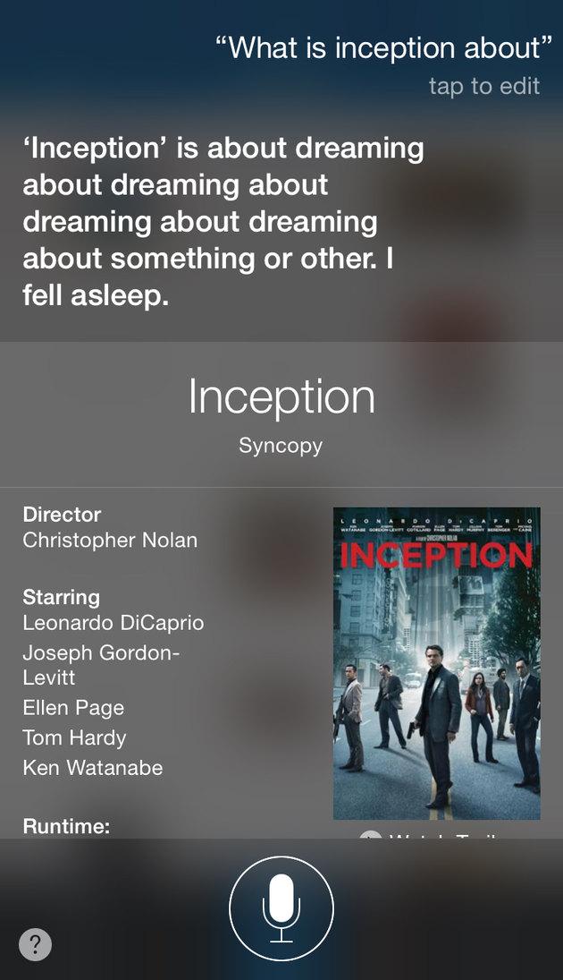 Inception n Siri - meme