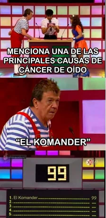 Komander señores - meme