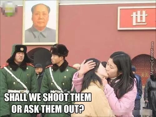 shall we shoot or ask them out - meme