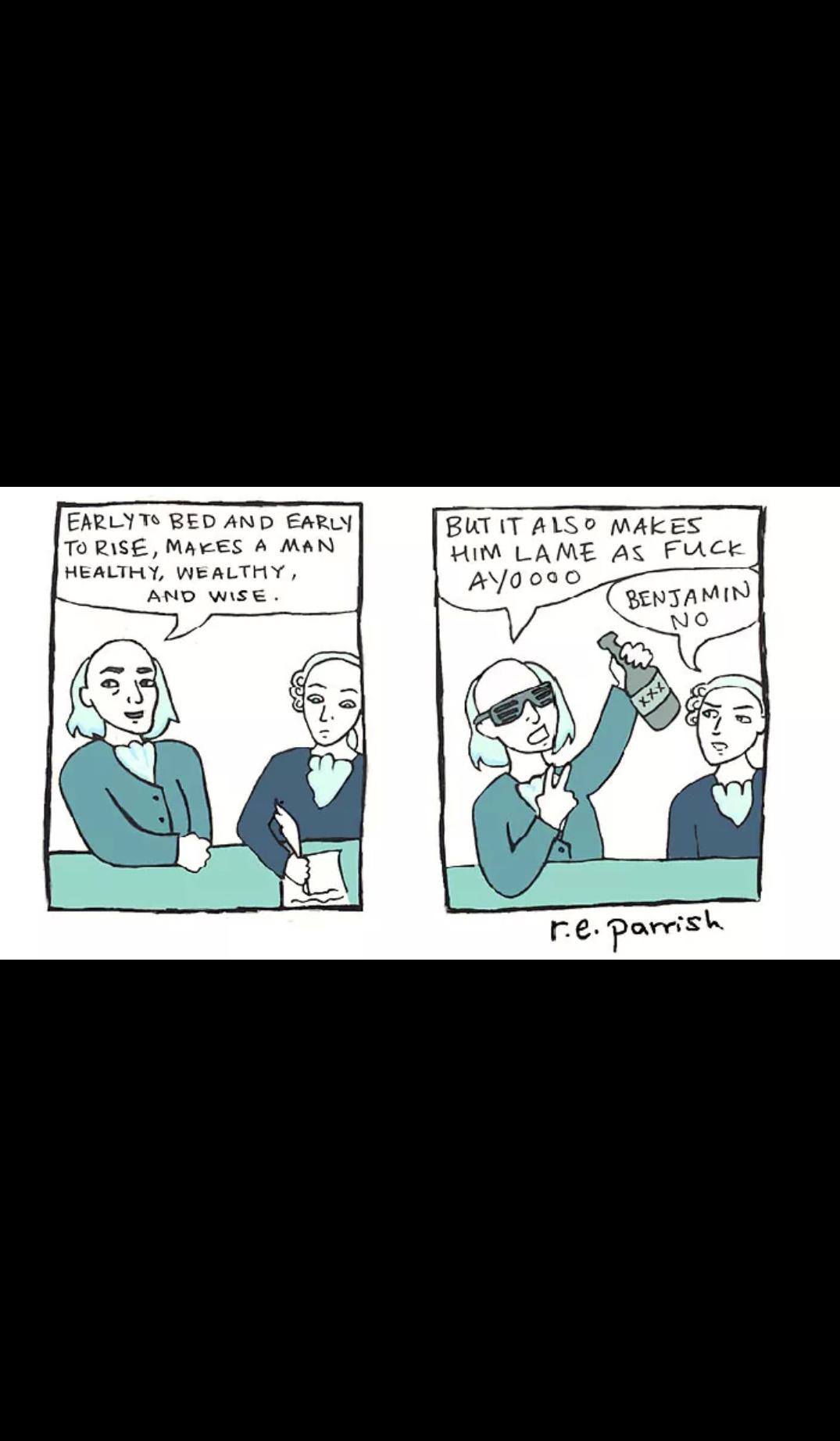 R. E. Parrish comics - meme