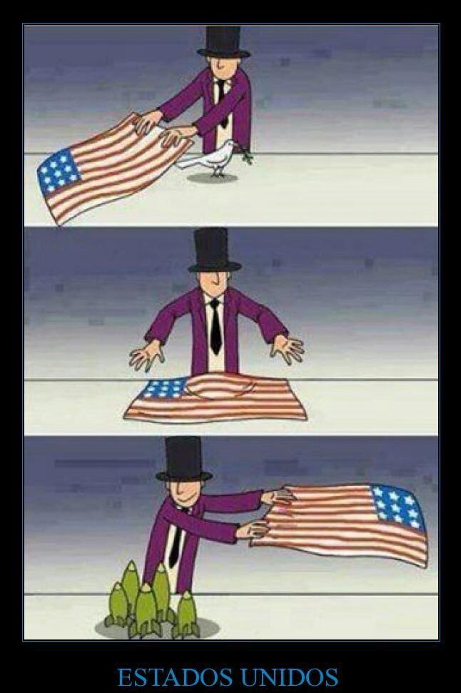 "Estados unidos levando a ""paz"" desde os tempos imemoráveis - meme"