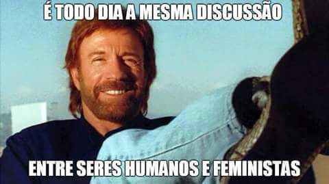 Resultado de imagem para treta entre feminista meme