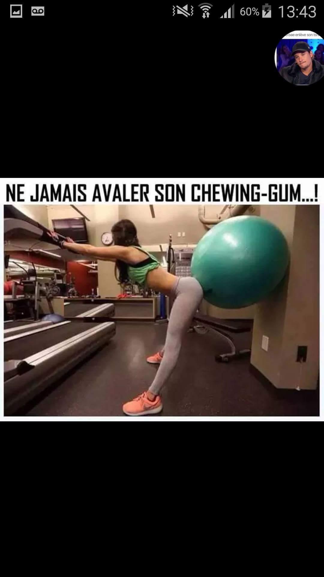 Toujours jeter son chewin-gum - meme
