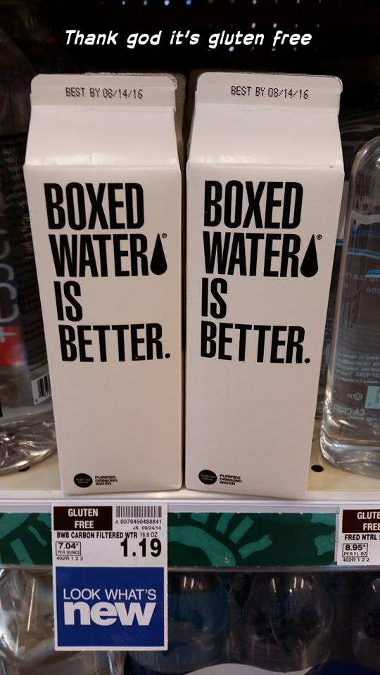 Boxed water - meme