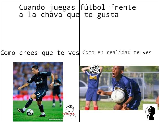 Fútbol (sigueme y te sigo) :) - meme
