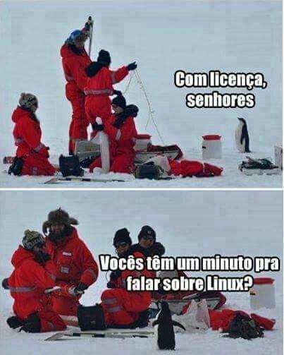 Linux me seguio siga vc tb - meme
