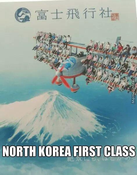 La 1ère classe dans un avion coréen - meme