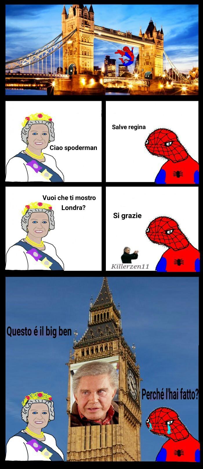 Cito Marcolo15 (come sempre) e il povero Spoderman - meme