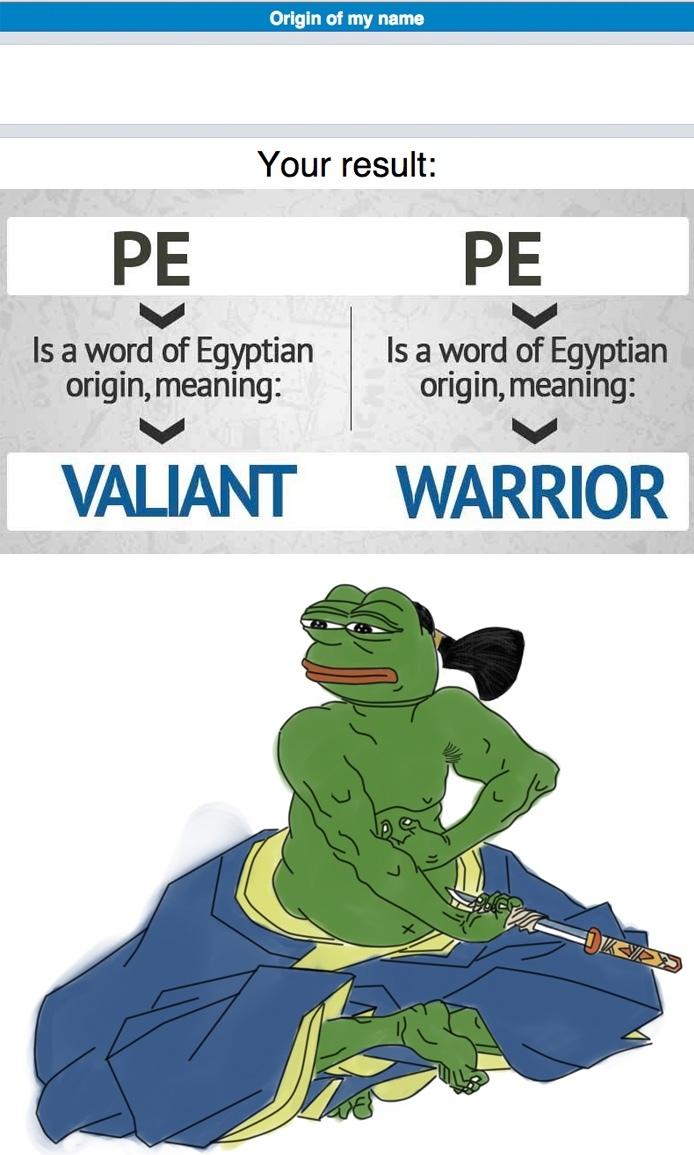 warrior pepe - meme