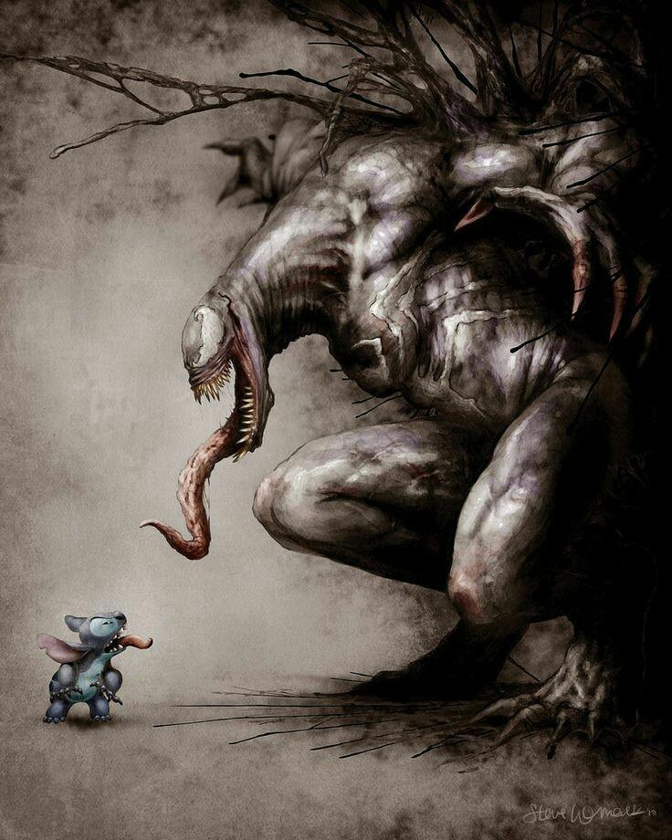 Venom and stitch - meme