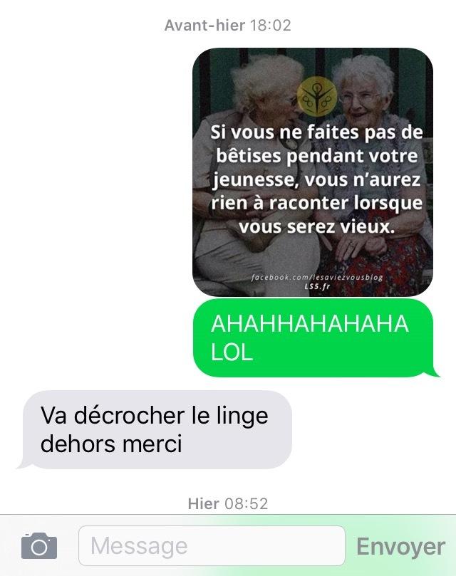 Le non respect d'une mère - meme
