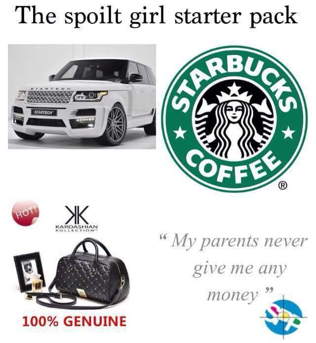 Bitch starter pack - meme