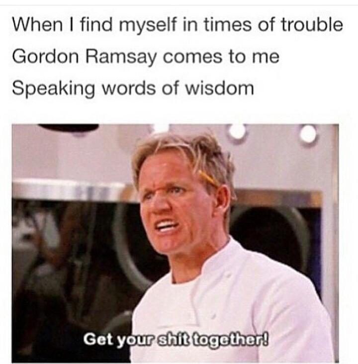 Pure Words of wisdom - meme