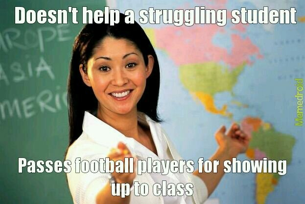 Unhelpful unless you're an athlete - meme