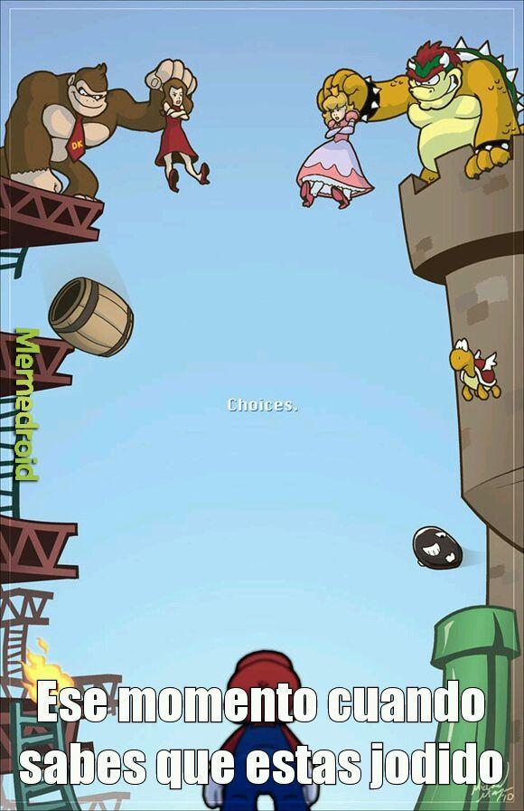 Pobre de Mario - meme