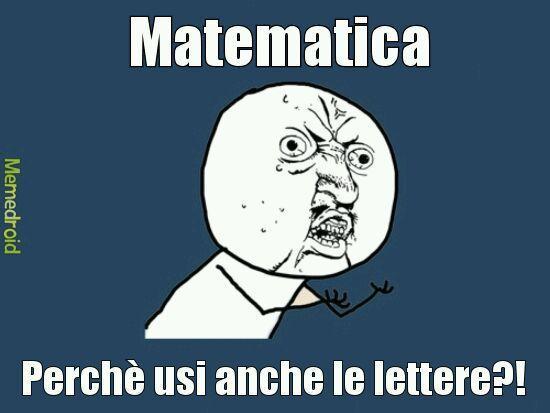 Matematica infame - meme