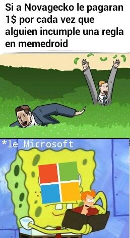Microsoft compra todo lo que vea que gana dinero - meme