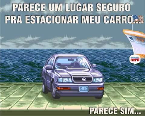 Depois o carro leva Hadouken à toa - meme