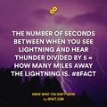 find distance of lightning