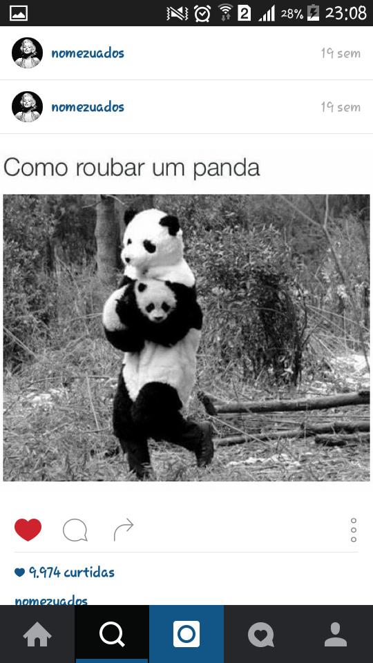 Como roubar um panda - meme