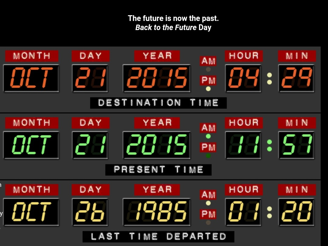 "Happy ""Back to the Future"" Day - meme"