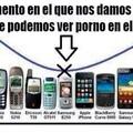 La evolución de los móviles